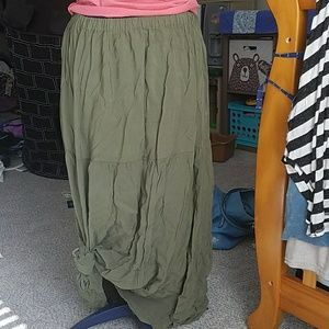 hippie peasant boho broom skirt sz m